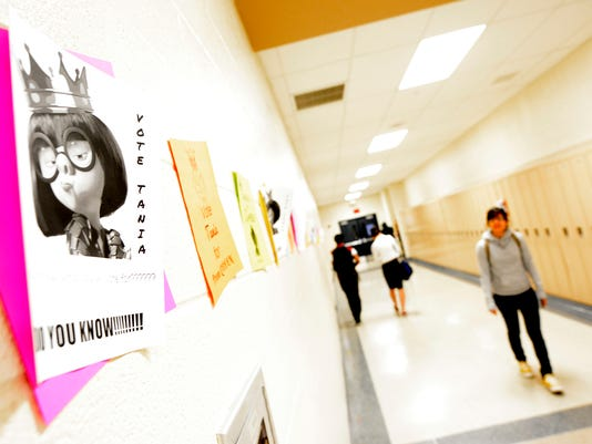 In this file photo, posters for prom queen line a hallway in William Penn Senior High School earlier this year. John A. Pavoncello - jpavoncello@yorkdispatch.com
