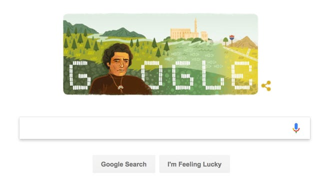 The Google Doodle honoring American Indian activist Richard Oakes.