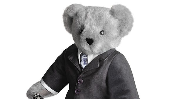 This Fifty Shades of Grey bear is $90 at VermontTeddyBear.com.