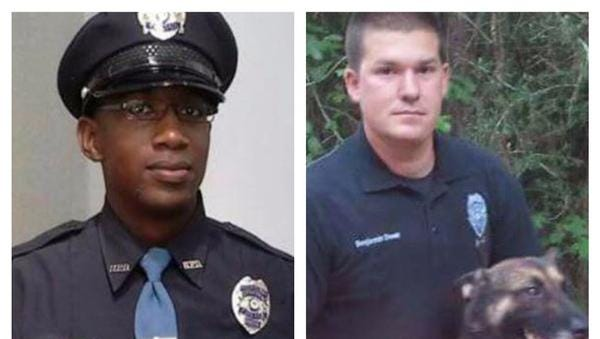 Fallen Hattiesburg officers Liquori Tate and Benjamin Deen