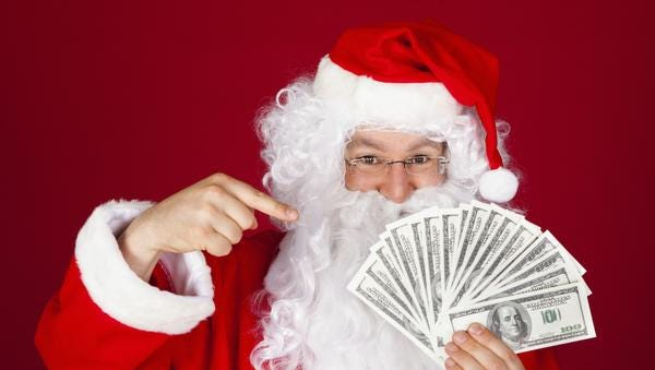 According to Consumer Reports, most people would prefer if Santa give them cash rather than gift cards