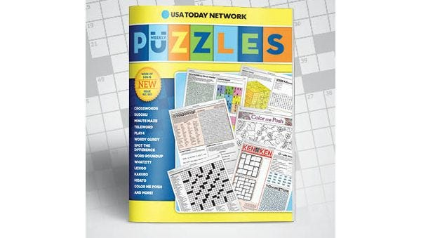 USA Today Network Puzzles book. Purchase yours today!