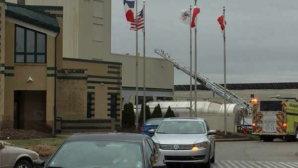 The scene at Perfetti Van Melle Co. Tuesday morning.