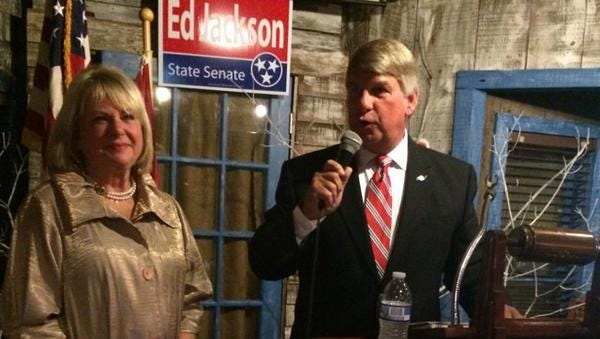 Ed Jackson thanks supporters