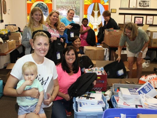 RV Johnson Insurance organized a team of volunteers