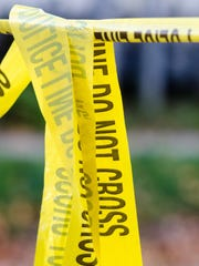 Crime-scene tape blocks off portions of Hyde Street