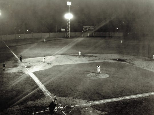 The Evanville Hubs played the first nighttime baseball game at Bosse Field, Aug. 12, 1931. Previously, the lights were not strong enough for a baseball game. Lighting is one of the areas in need of upgrading to a more energy efficient and money saving system.