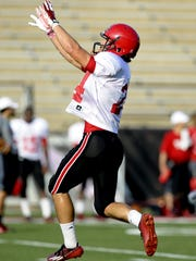 Gabe Fuselier, shown here during a 2014 practice, has