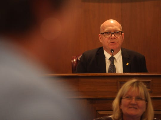 Dover City Council President Timothy Slavin conducts a recent council meeting.