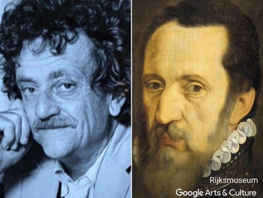 "Kurt Vonnegut matched with ""Portrait of Fernando Alvarez"