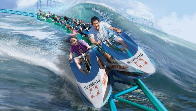 SeaWorld's San Antonio park will roll out Wave Breaker: The Rescue Coaster. Capitalizing on Sea Rescue, the ABC TV show produced in collaboration with SeaWorld, the coaster train will feature cars that look like the Jet Skis used on the program.