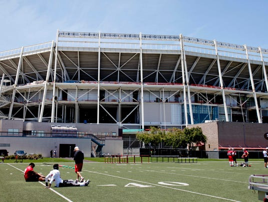 The 49ers new stadium is being built in the shadow of their