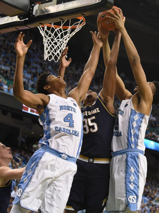 USP NCAA BASKETBALL: NOTRE DAME AT NORTH CAROLINA S BKC USA NC