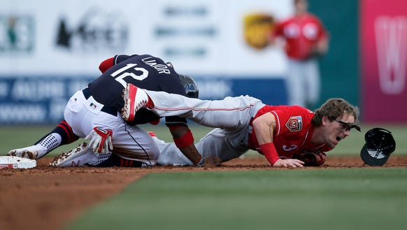 Cleveland Indians shortstop Francisco Lindor (12) and