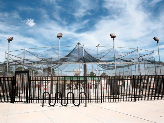 Rudy Gutierrez—El Paso Times Batting cages at the El Paso County Sportsplex in East El Paso.