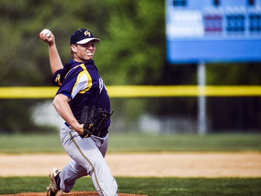 Eastern York sophomore Brandon Knarr struck out 18 and walked four in a complete-game victory against Delone Catholic Friday in a YAIAA baseball semifinal game at Spring Grove High School. Knarr allowed four hits, including two bunt singles in Eastern York's 2-0 victory.