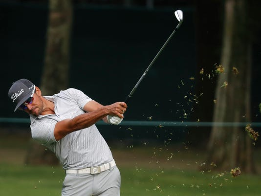 Rafa Cabrera Bello of Spain approaches the green on the 16th hole during the second round of the Mexico Championship at the Chapultepec Golf Club in Mexico City, Friday, March 2, 2018. (AP Photo/Eduardo Verdugo)