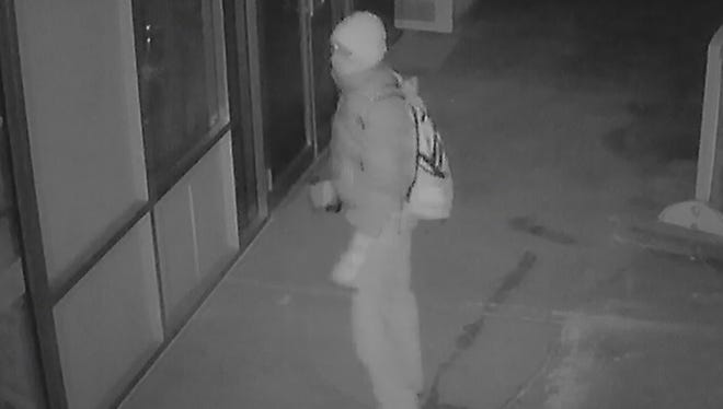An image of a suspect in the burglary of Tikki's Adult Boutique in Cortlandville.