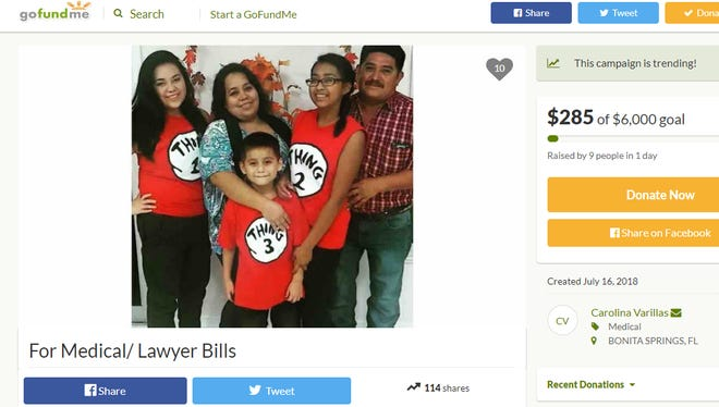 A Bonita family hit by a car in an East Naples grocery store parking lot is asking for aid through GoFundMe.