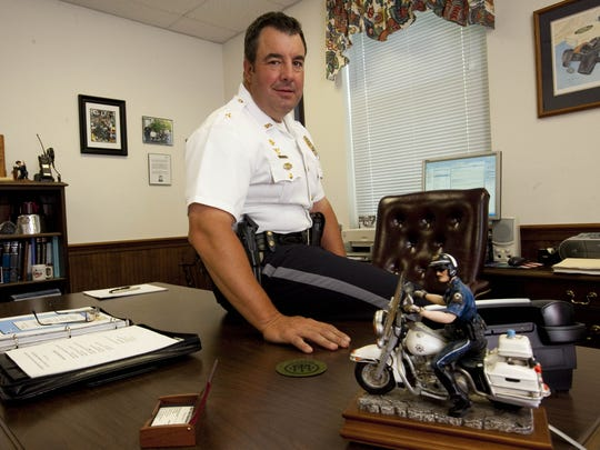 Former Dover Police Chief James E. Hosfelt Jr., seen here in 2010, is now the head of public safety for Dover International Speedway, a job that includes coordinating security at Firefly Music Festival.