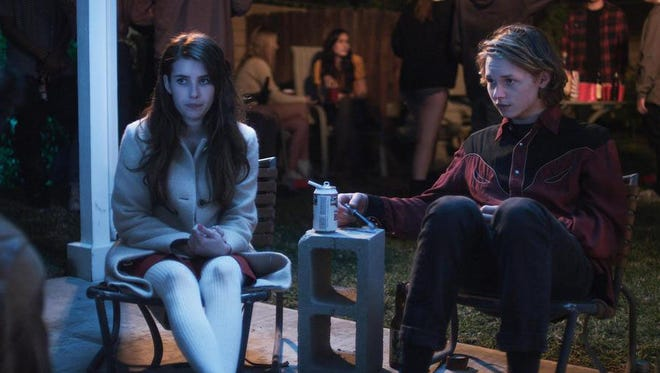 "Emma Roberts plays a smart, virginal high-school kid while Jack Kilmer portrays her friend, a budding artist, in ""Palo Alto."""