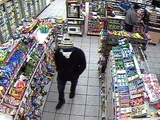 Two men wanted in the robbery of the Speedway store,