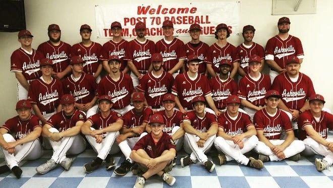 The Asheville American Legion Post 70 baseball team.