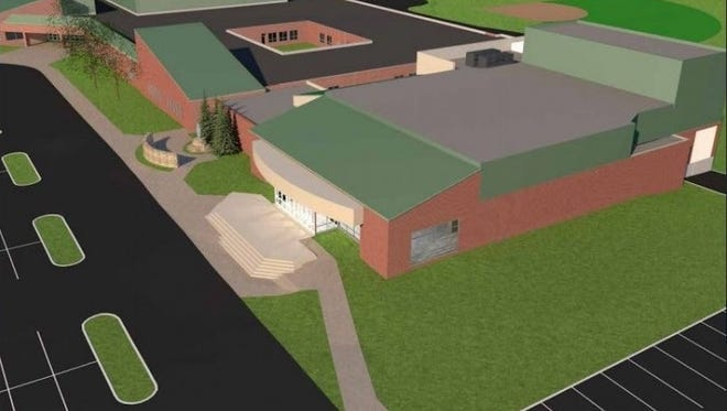 St. Henry District High School in Erlanger intends to build a $6 million addition including a new 650-seat auditorium shown in this artist's rendering.