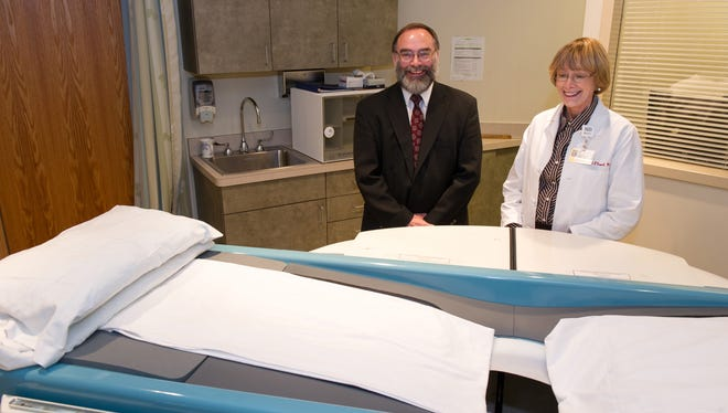 David Conover, director of R&D at Koning Corporation, and Dr. Avice M. O'Connell, Director of women's Imaging in URMC's Department of Imaging Sciences, are photographed here as part of the team working to bring this more effective breast-imaging device to market.