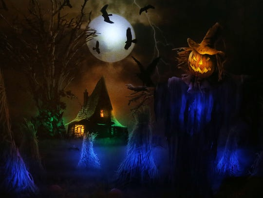 Some of the items in Donna Davies Halloween Room at