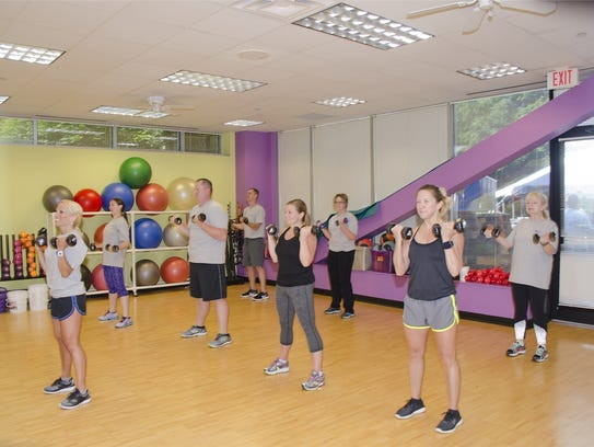 Fitness classes at Ohio National's offices in Montgomery.