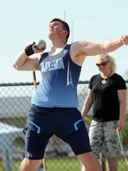 Adena's Eric Hurtt competes in the Division II Regional