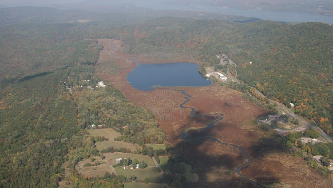 Chodikee Lake and Black Creek are shown in this aerial view.
