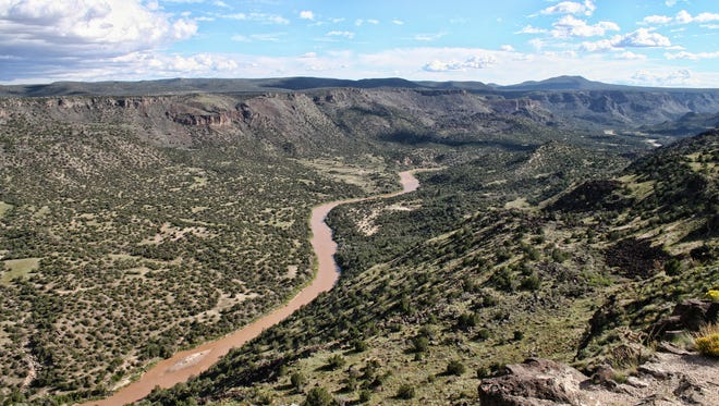 The Rio Grande is seen from the White Rock Overlook near Los Alamos.