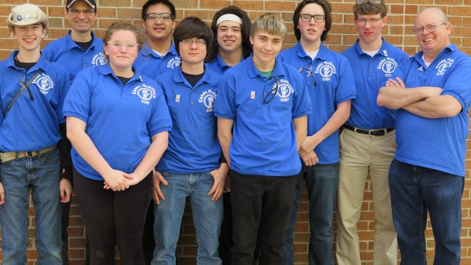 The Essex Robotics Club team recently competed at FIRST Tech Challenge Super-Regional Championship Tournaments at the University of Scranton. From left, are Isaak Olson, Coach Jim Dirmaier, Emily Moehn, Ken Liu, Robert Kline, Carl Fung, Jacob Bonning, Alistair Murphy, Jonathan Carter and Coach Joe Chase. Not pictured are Tigran Ionnisian, David St. Pierre and Coach Scott Turnbull, a UVM software developer. More inside.