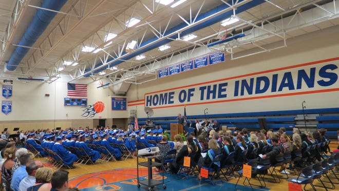 """The Saugatuck Public Schools Board of Education announced it will be reevaluating the use of """"Indians"""" as the nickname and mascot of its sports teams."""