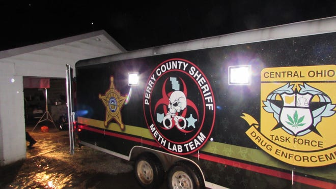 The Perry County Sheriff's Office Meth Lab Team investigates a possible methamphetamine lab March 3 in Crooksville. The sheriff's office also reported another meth lab raid March 20 in Corning.