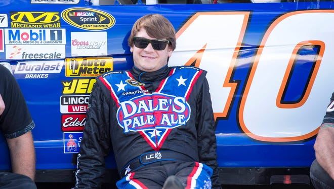 Landon Cassill, shown Nov. 8 at Phoenix International Raceway, recovered from a bike accident to qualify for the Daytona 500.