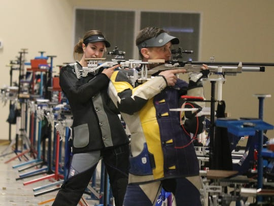 Sarah Beard and Matthew Rawlings make it to the final shoot-off at the Camp Perry Open's Super Final.