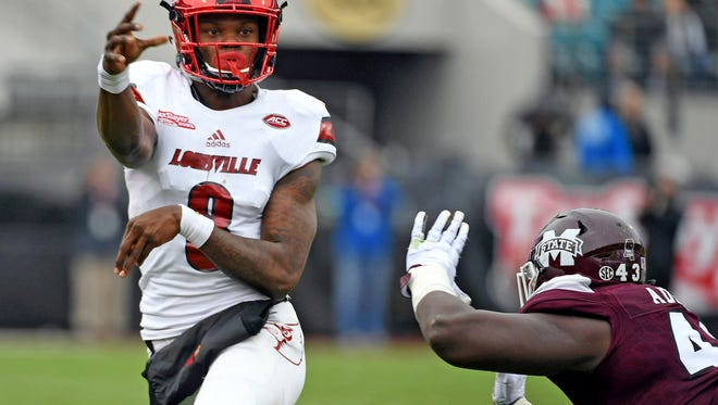 Louisville's Lamar Jackson is considered the best athlete and most dynamic player among the quarterbacks in the NFL draft.