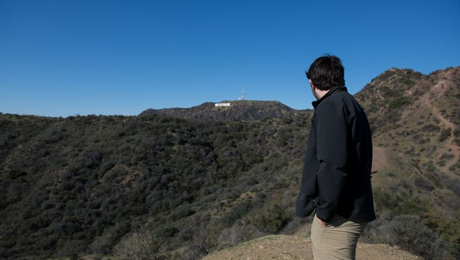 Looking over the Hollywood Hills
