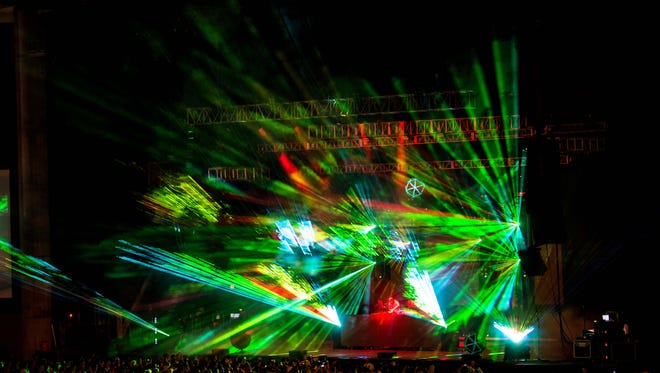 Pretty Lights performed on Fri., May 8 as part of Tampa's 2nd Big Guava Music Festival at the Midflorida Credit Union Amphitheatre and Florida State Fairgrounds.