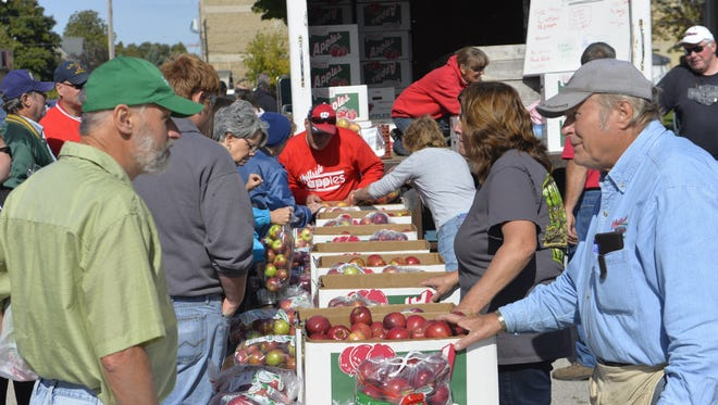 Thousands of people poured into downtown Two Rivers Saturday, Oct. 10, to celebrate AppleFest.
