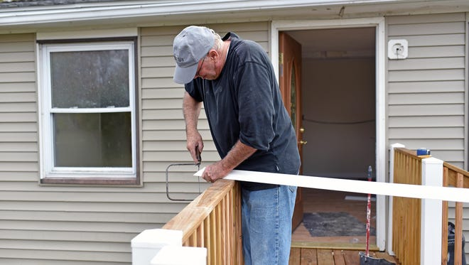 The Cumberland County Longterm Recovery Group is renovating a home in Port Norris.  Hurricane Sandy destroyed the home of 2552 Milbourne Ave.  Charlie Johnson of North Wildwood  helping with the project.  Oct. 30, 2015