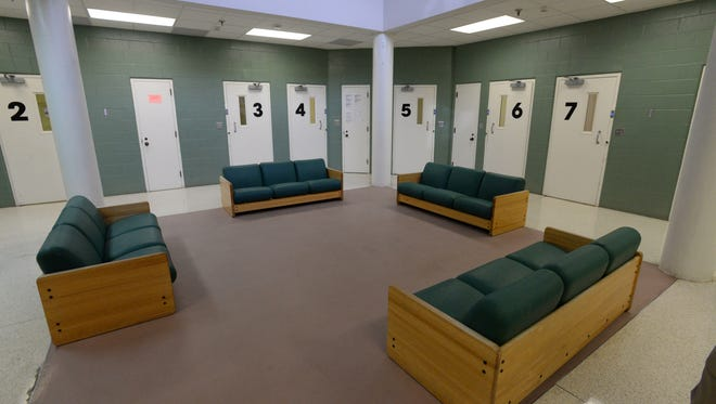 There are four Pods like this at the Caddo Parish Juvenile Justice Complex. Each inmate gets their own cell.