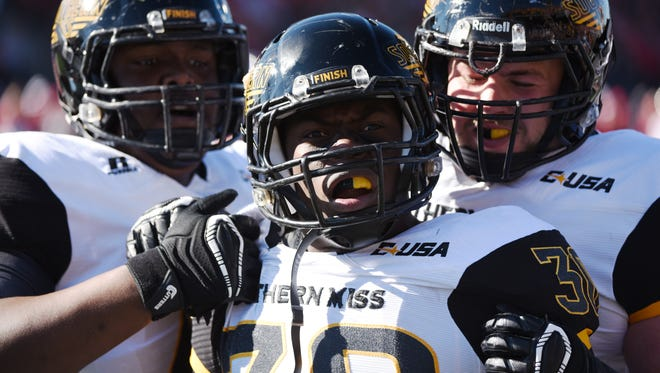 Running back Jalen Richard (30) and Southern Miss have accomplished a lot this season, but disappointment set in after Saturday's loss in the C-USA championship.