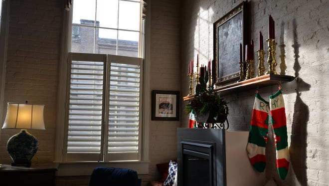 The home of Kathy and Ron Denney at 119 South Augusta Street. Their home, among others, were a part of the Historic Staunton Foundation's 43rd Annual Holiday House Tour, which this year focused on the Wharf district.