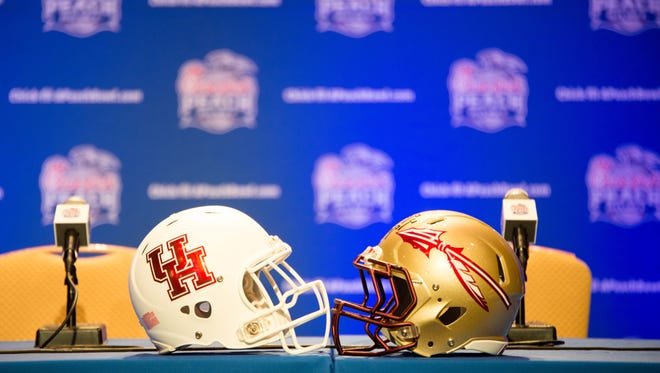 The Florida State defense addressed Peach Bowl media at the Hyatt Regency Downtown in Atlanta, GA on Tues., Dec. 29.
