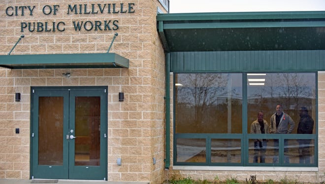 The new Millville Public Works facility on South 15th Street will eventually house the vehicle fleet maintenance, parks, and street and roads departments.