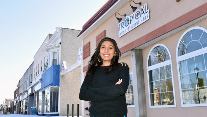 Vanessa Sosa, owner of Tropical Latin Restaurant at 523 E. Landis Avenue in Vineland, stands in front of her eatery.